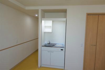 個室にはミニキッチンも付いています。