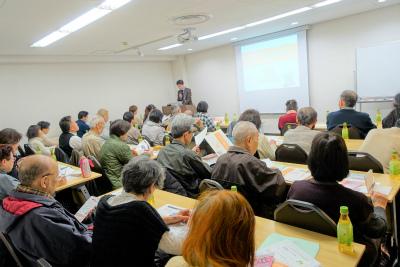 大阪市でハッピータイムケアのセンター長の安藤が「老人ホームの種類と選び方」の講師を務めさせて頂きました