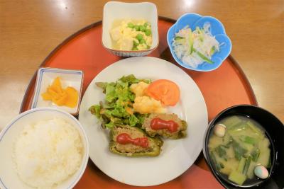 館内調理のお食事です。栄養バランスを考えられて調理されています。