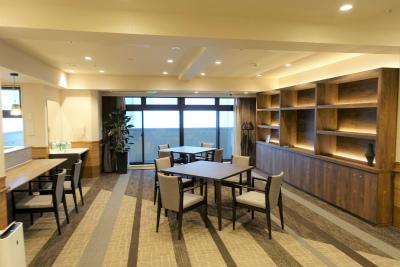 2階と3階にあるカフェコーナーです。ご入居者様の憩いのスペースとなります。