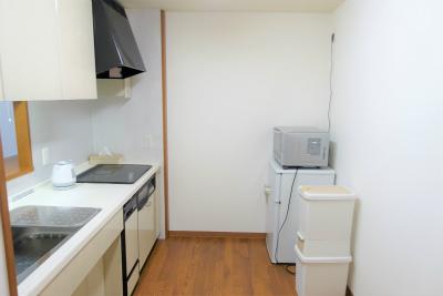 お部屋にはキッチンもあります。