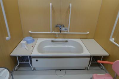 介護スタッフさんの介助を受けながらご入浴出来ます。