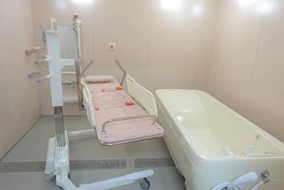 機械浴もあります。お身体に不安のある方も安心です。